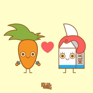 Tú tan Carrot y yo tan Milk