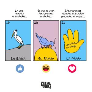 La garza / El pájaro / La mano