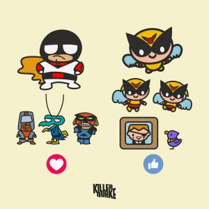 Space ghost, birdman and friends