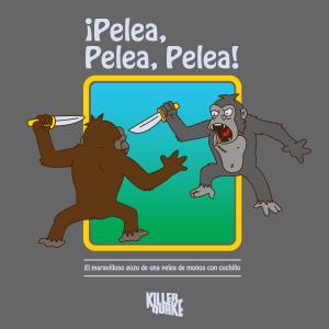 Pelea de monos con cuchillos